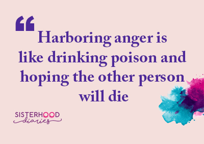 Harboring anger is like drinking poison and hoping the other person will die